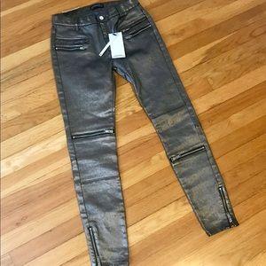 "Zara Metallic ""Biker"" pants"